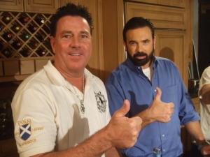 Billy Mays and Bill at Mighty Mendit Shoot 2008
