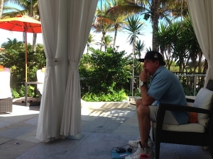 ERA Miami 2014- Bill charts his own course for Top Dog in our Inventors Cabana away from the convention.