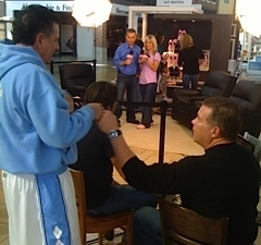 Bill supervises Taylor and Tim at Hot Booties Shoot 2012
