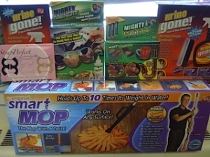 An Assortment of Top Dog retail products packages