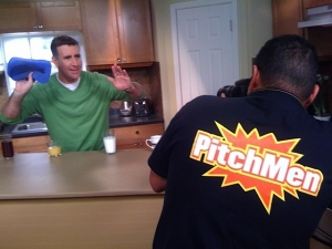 Anthony Sullivan on our set and being filmed Pitchman Show on Discovery Channel 2009