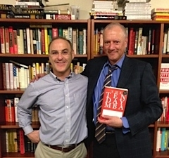 Steve with Rafe Sagalyn, his literary agent, celebrating Ten Day MBA in print for 22 years